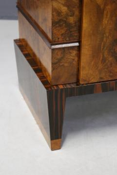 Gio Ponti Sideboard MidCentury in Walnut briar and brass attributed to Gio Ponti 1950s - 1267863