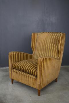 Gio Ponti rare armchairs from Gio Ponti 40s original fabric of the time - 1012787