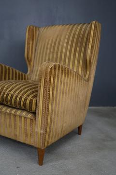 Gio Ponti rare armchairs from Gio Ponti 40s original fabric of the time - 1012788