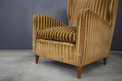 Gio Ponti rare armchairs from Gio Ponti 40s original fabric of the time - 1012789