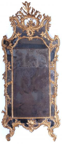 Giovan Battista Dolci A Carved and Gilded Rococo Mirror with Antique Mirror Glass - 116972