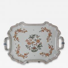 Giovanni Battista Antonibon A Glazed Earthenware Tray with Two Handles and Floral Decoration - 160295