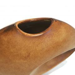Giovanni Bertoncello 1960s Bertoncello Italian Vintage Abstract Sculpture Brown Red Ceramic Vase - 2126143