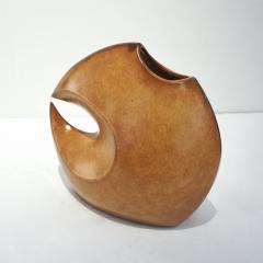 Giovanni Bertoncello 1960s Bertoncello Italian Vintage Abstract Sculpture Brown Red Ceramic Vase - 2126150