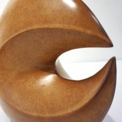 Giovanni Bertoncello 1960s Bertoncello Italian Vintage Abstract Sculpture Brown Red Ceramic Vase - 2126152