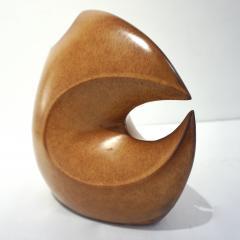 Giovanni Bertoncello 1960s Bertoncello Italian Vintage Abstract Sculpture Brown Red Ceramic Vase - 2126153