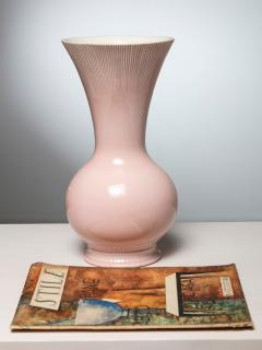Giovanni Gariboldi Pink Ceramic Vase by Giovanni Gariboldi for San Cristoforo Richard Ginori - 1193727