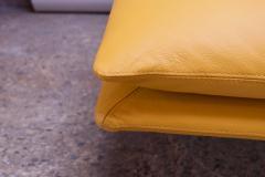 Giovanni Offredi Postmodern Leather Wave Chaise by Giovanni Offredi for Saporiti - 1749779