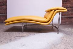 Giovanni Offredi Postmodern Leather Wave Chaise by Giovanni Offredi for Saporiti - 1749782