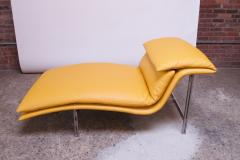 Giovanni Offredi Postmodern Leather Wave Chaise by Giovanni Offredi for Saporiti - 1749787