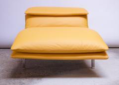Giovanni Offredi Postmodern Leather Wave Chaise by Giovanni Offredi for Saporiti - 1749789