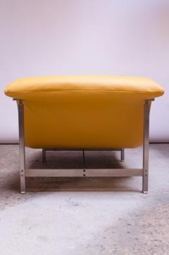 Giovanni Offredi Postmodern Leather Wave Chaise by Giovanni Offredi for Saporiti - 1749790