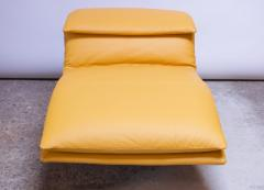 Giovanni Offredi Postmodern Leather Wave Chaise by Giovanni Offredi for Saporiti - 1749818