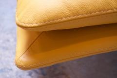 Giovanni Offredi Postmodern Leather Wave Chaise by Giovanni Offredi for Saporiti - 1749820