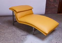 Giovanni Offredi Postmodern Leather Wave Chaise by Giovanni Offredi for Saporiti - 1749822