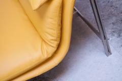 Giovanni Offredi Postmodern Leather Wave Chaise by Giovanni Offredi for Saporiti - 1749823