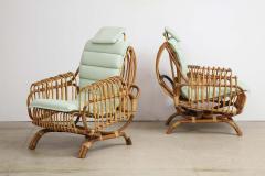 Giovanni Travasa Rare Pair of Antonietta Arm Chairs by Giovanni Travasa for Bonacina - 1528085