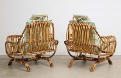 Giovanni Travasa Rare Pair of Antonietta Arm Chairs by Giovanni Travasa for Bonacina - 1528086