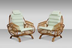 Giovanni Travasa Rare Pair of Antonietta Arm Chairs by Giovanni Travasa for Bonacina - 1528089