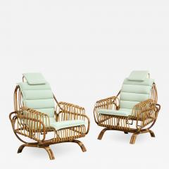 Giovanni Travasa Rare Pair of Antonietta Arm Chairs by Giovanni Travasa for Bonacina - 1536523