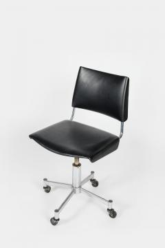 Giroflex office chair with leather 60s - 1856685