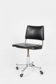 Giroflex office chair with leather 60s - 1856686