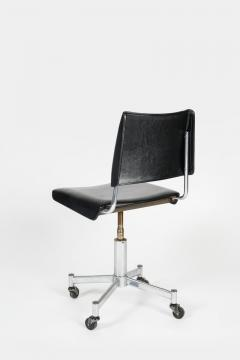 Giroflex office chair with leather 60s - 1856687