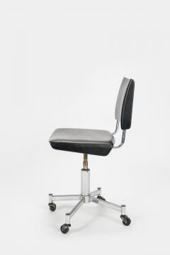 Giroflex office chair with leather 60s - 1856688