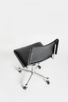 Giroflex office chair with leather 60s - 1856701