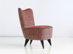 Giulia Veronesi Giulia Veronesi Pair of Perla Slipper Chairs ISA Bergamo Italy 1950s - 1203657
