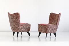 Giulia Veronesi Giulia Veronesi Pair of Perla Slipper Chairs ISA Bergamo Italy 1950s - 1203659
