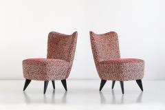 Giulia Veronesi Giulia Veronesi Pair of Perla Slipper Chairs ISA Bergamo Italy 1950s - 1203661