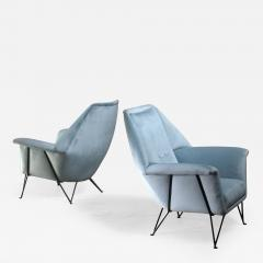 Giulia Veronesi Pair of I S A Bergamo lounge chairs Italy 1950s - 1061563