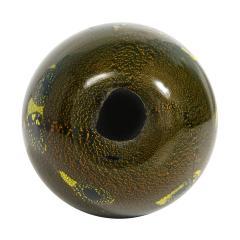 Giulio Radi Giulio Radi Black Glass Vase with Gold Foil ca 1950 - 2054453