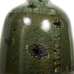 Giulio Radi Giulio Radi Black Glass Vase with Gold Foil ca 1950 - 2054456