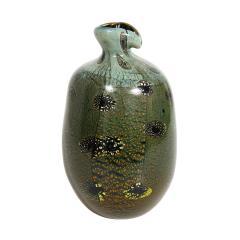 Giulio Radi Giulio Radi Black Glass Vase with Gold Foil ca 1950 - 2054457