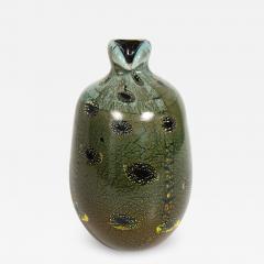 Giulio Radi Giulio Radi Black Glass Vase with Gold Foil ca 1950 - 2055474