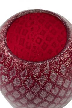 Giulio Radi Hand Blown Red Glass Vase by Giulio Radi - 202785