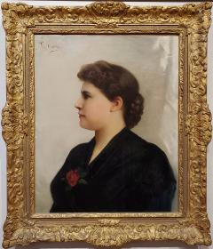 Giuseppe Costa Portrait of a Woman an Oil Painting signed by Giuseppe Costa - 1217062