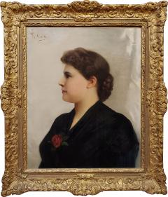 Giuseppe Costa Portrait of a Woman an Oil Painting signed by Giuseppe Costa - 1218770