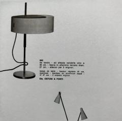 Giuseppe Ostuni 1950s Giuseppe Ostuni 243 Table Lamp for O Luce - 1105527
