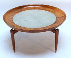 Giuseppe Scapinelli 1960s Scapinelli Brazilian Caviuna and Marble Round Coffee Table - 282658