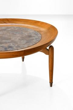 Giuseppe Scapinelli Giuseppe Scapinelli Round Coffee Table in Caviuna and Marble Brazil 1960s - 1004236