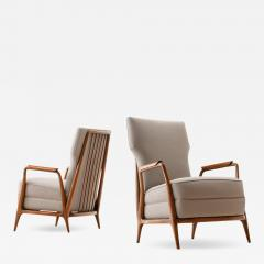 Giuseppe Scapinelli Pair of Giuseppe Scapinelli High Back Chairs in Caviuna Wood Brazil 1950s - 1065854