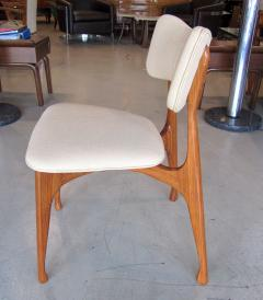 Giuseppe Scapinelli Set of Six Italian Modern Walnut Dining Chairs Guiseppe Scapinelli - 1257033