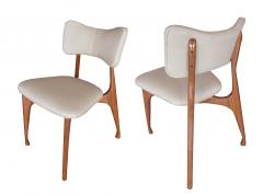 Giuseppe Scapinelli Set of Six Italian Modern Walnut Dining Chairs Guiseppe Scapinelli - 1257034