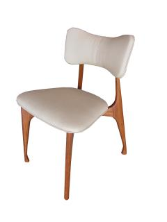 Giuseppe Scapinelli Set of Six Italian Modern Walnut Dining Chairs Guiseppe Scapinelli - 1257035
