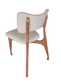 Giuseppe Scapinelli Set of Six Italian Modern Walnut Dining Chairs Guiseppe Scapinelli - 1257036