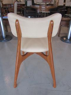 Giuseppe Scapinelli Set of Six Italian Modern Walnut Dining Chairs Guiseppe Scapinelli - 1257046