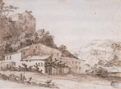 Giuseppe Zais Landscape with a Farmhouse in the Foreground - 153347